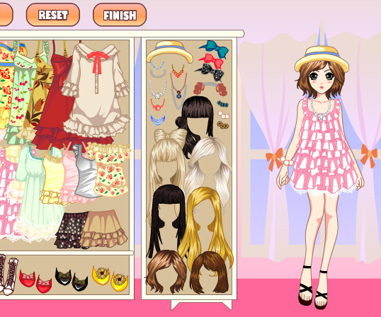 Laces Girl Dress Up game online - Girls games only