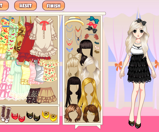 Laces Girl Dress Up game online. Screen Shot 2