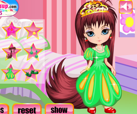Long Haired Princess game online. Screen Shot 2