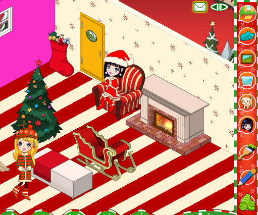 My New Room Christmas game online. Screen Shot 2