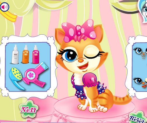 Pets Beauty Salon game online. Screen Shot 4