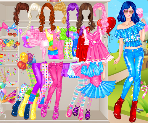 Pink сandy girl game online screen shot 1