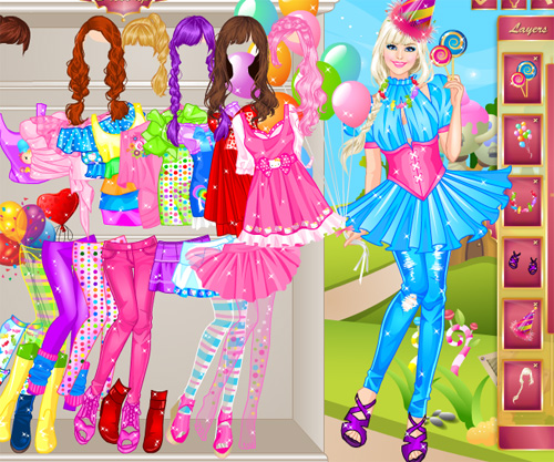 Pink Сandy girl game online. Screen Shot 2