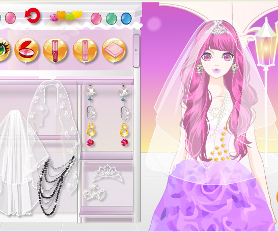 Pretty Charming Bride game online. Screen Shot 4