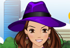 Purple Fashion Dress Up game online