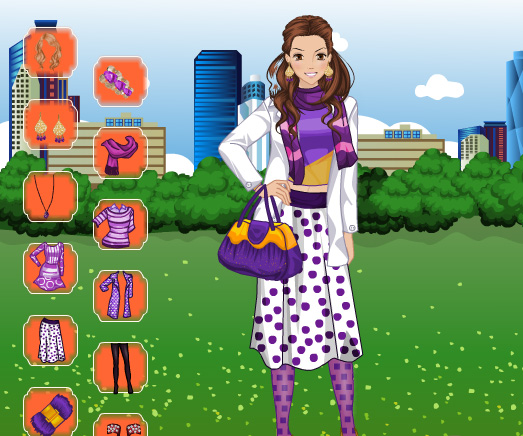 Purple Fashion Dress Up game online. Screen Shot 4