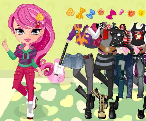 Rock Star Babes Dress Up game online. Screen Shot 1