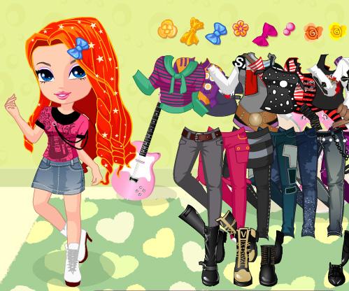 Rock Star Babes Dress Up game online. Screen Shot 2