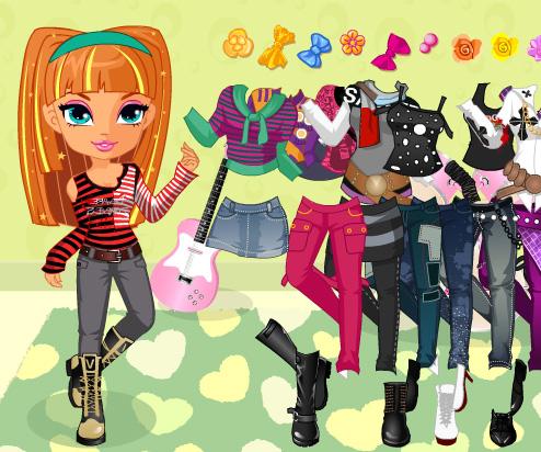 Rock Star Babes Dress Up game online. Screen Shot 3