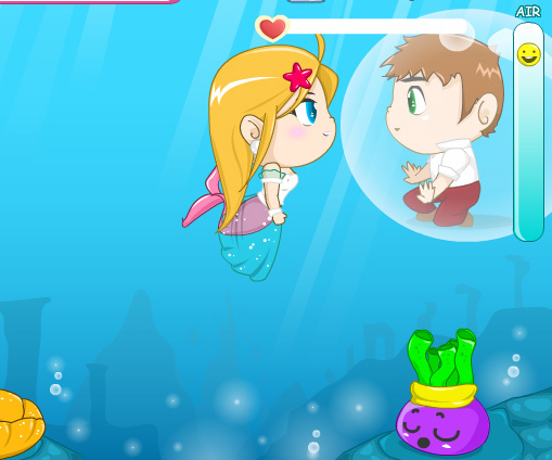 Romantic Sea game online. Screen Shot 1