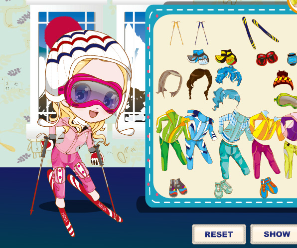 Three Snow Lovers game online. Screen Shot 2