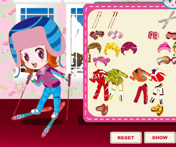 Three Snow Lovers game online. Screen Shot 3