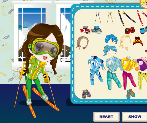 Three Snow Lovers game online. Screen Shot 4