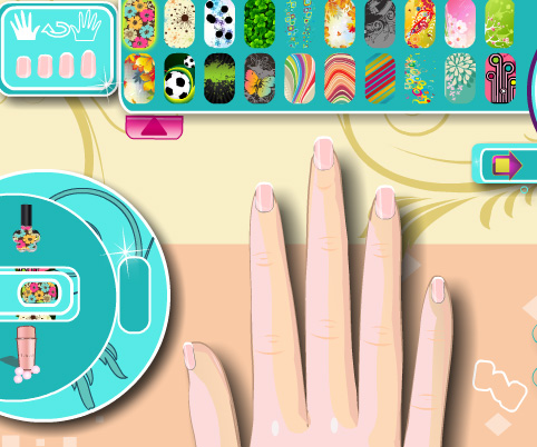 Trendy Nail Art game online. Screen Shot 1