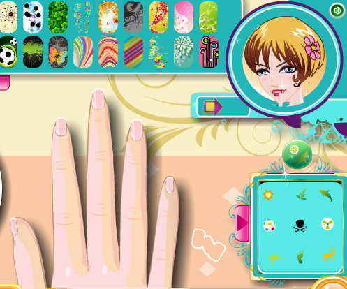 Trendy Nail Art game online. Screen Shot 2