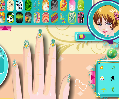 Trendy Nail Art game online. Screen Shot 4