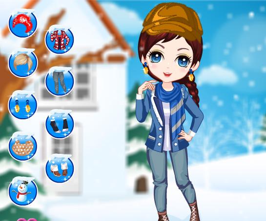Winter Girl Fashion game online. Screen Shot 3