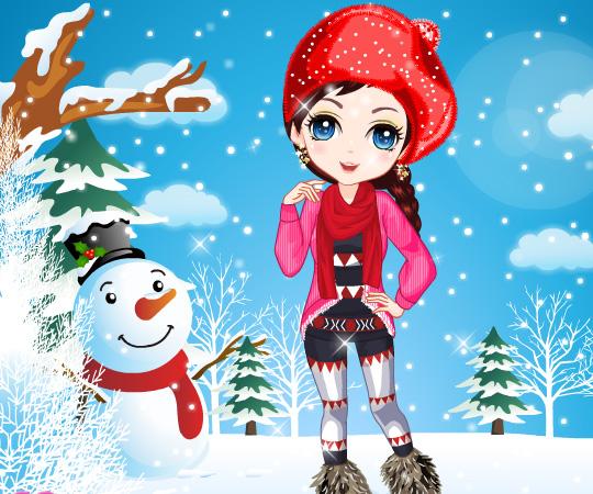 Winter Girl Fashion game online. Screen Shot 4