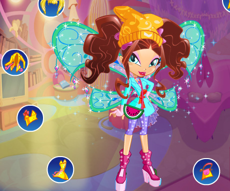 Winx Club Doll DressUp game online. Screen Shot 3