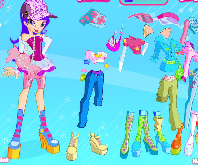 Winx Club Dolls 2 game online. Screen Shot 3