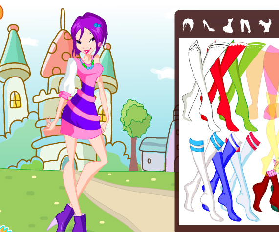 Winx Club Musa Style game online. Screen Shot 2