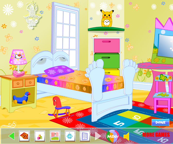 Winx Club Room Decoration game online. Screen Shot 2