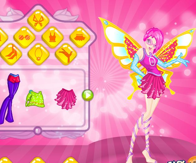 Club style dress up game