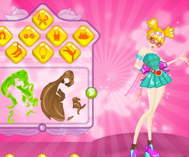 Winx Dress Up game online. Screen Shot 3