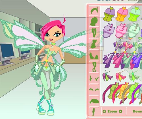 Winx Tecna Dress Up game online. Screen Shot 2